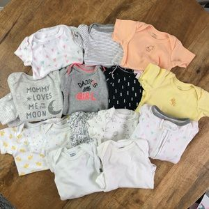 Carter's Baby Girl Onesies Pants Bundle